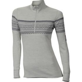 Aclima DesignWool Marius Mock Neck Shirt Dame gråfjell